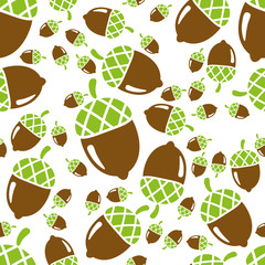 acorn seamless pattern