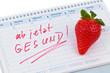 canvas print picture - Guter Vorsatz zur Gesunden Ernährung