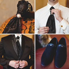 groom, wedding set