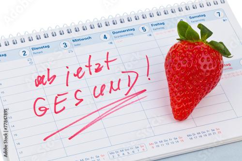 canvas print picture Guter Vorsatz zur Gesunden Ernährung