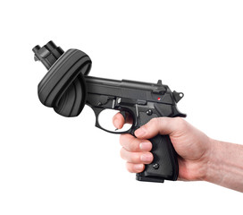 Handgun with knot