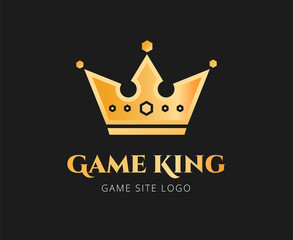 Abstract crown vector logo template for branding and design