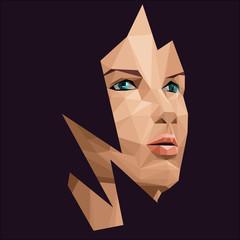 Polygonal woman