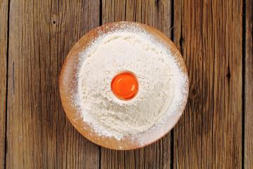 Egg yolk and flour