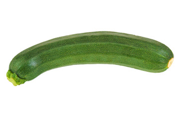 Green and ripe zucchini isolated on white