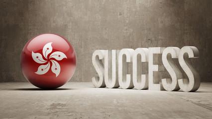 Hong Kong. Success Concept.