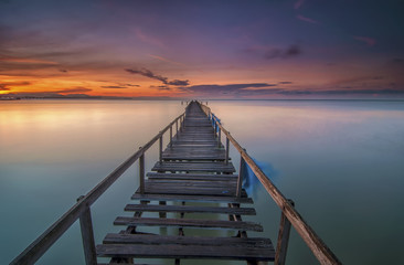 Long Exposure Sunrise Seascape