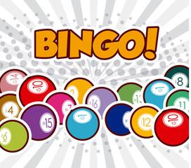 Bingo design, vector illustration.