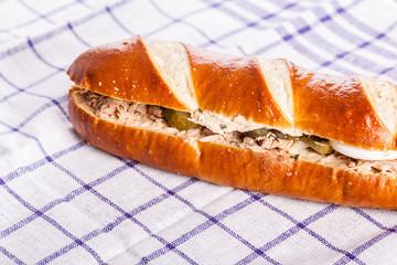 Tuna sub sandwich
