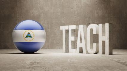 Nicaragua. Teach Concept.