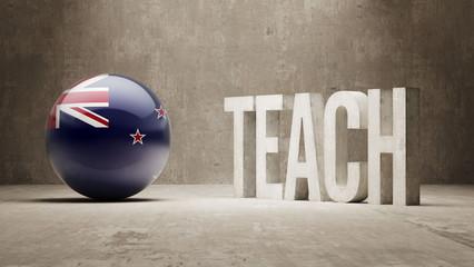 New Zealand. Teach Concept.
