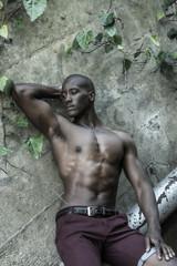 Sad black, african american man