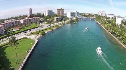 Weekend boating in Boca Raton, Florida