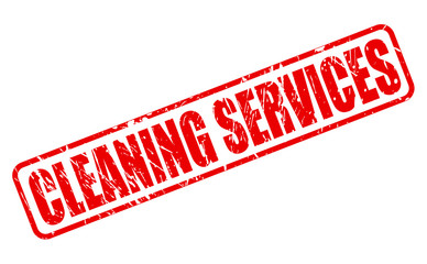 Cleaning services red stamp text