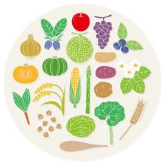 北国の野菜と果物
