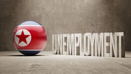 North Korea. Unemployment Concept.