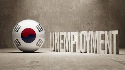 South Korea. Unemployment Concept.