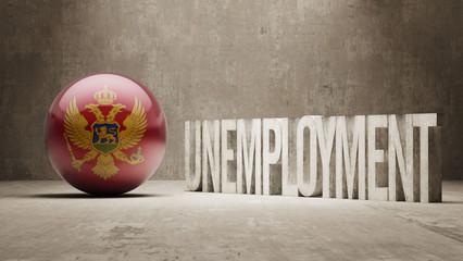 Montenegro. Unemployment Concept.