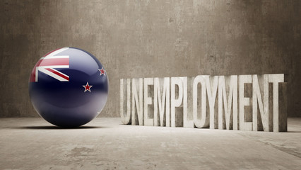 New Zealand. Unemployment Concept.