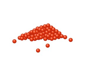 Red Caviar Salmon Roe on White Background