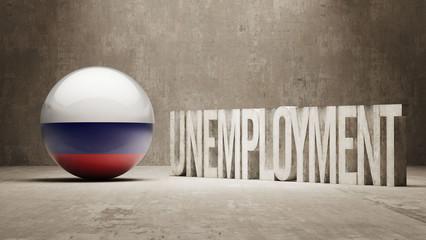 Russia. Unemployment Concept.