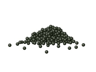 Black Caviar or Black Tobiko on White Background