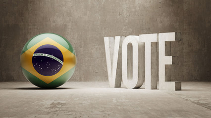 Brazil. Vote Concept.