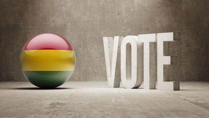 Bolivia. Vote Concept.