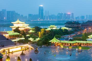 nanchang tengwang pavilion at night