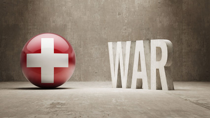 Switzerland. War Concept.