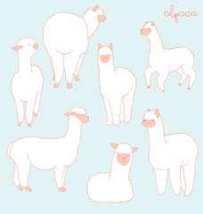 Alpaca set - peach