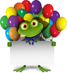 Frog and Balloons