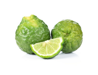Bergamot (Kaffir lime) isolated on white background