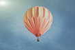 Retro Orange Hot Air Balloon with Sunlight - 77861242