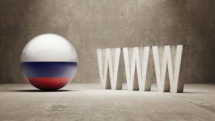 Russia. WWW Concept.