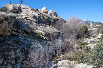 Granite boulders Hueco de San Blas, La Pedriza, Spain