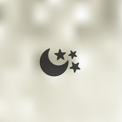full moon icon on blurred background
