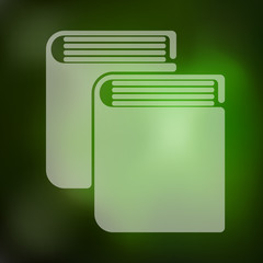 book icon on blurred background