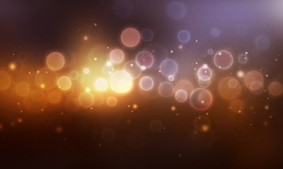 Colorful abstract bokeh shiny background design.