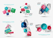 Zdjęcia na płótnie, fototapety, obrazy : Set of fresh business abstract infographic