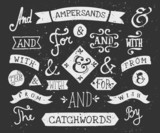 Hand Drawn Chalkboard Ampersands and Catchwords