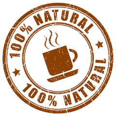 Natural coffee stamp
