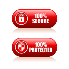 Secure proteced button
