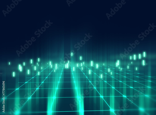 colorful  geometric grid  and blur abstract background - 77865696