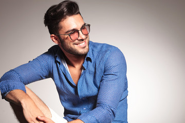 Portrait of a handsome fashion man smiling