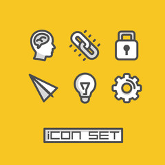 Icons set ideas. Vector illustration