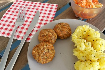 rissoles on the plate