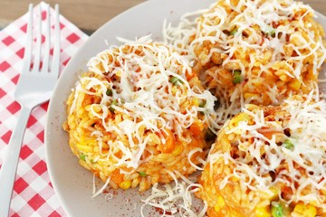 rice with vegetables and cheese