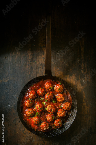 Fotobehang Grill / Barbecue Savory meatballs in a piquant sauce