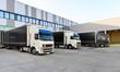 LKW´s zur Beladung am Depot einer Spedition // shipping - 77868816